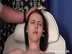 Medical fetish and extreme needle bdsm of enslaved patient by torturing merciles