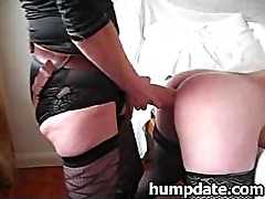 Femdom wife fucks hubbys ass with huge strapon
