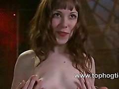 Seda gets her pussy stuffed in bondage