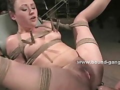 Sex slave tied in ropes and destroyed