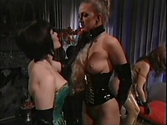 Asian BDSM mistress punishes her slutty slaves