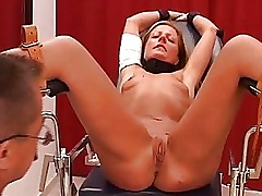 Blonde bdsm and extreme medical fetish of enslaved