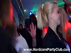 Amateur CFNM party babes love sucking stripper cock