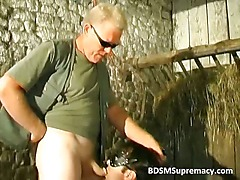BDSM action in basement where guy ties part3