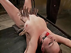 Tied up fetish slut punished