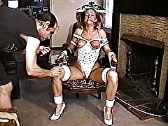 Bound and spanked hard
