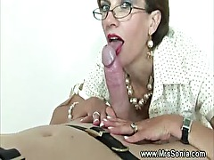 Domina ruling over a dick as she is about to cbt