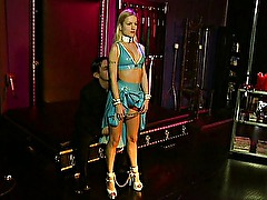 Blond latex slave hard BDSM fetish