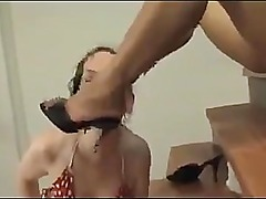 Caroline worships Drago bare feet
