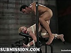 Bound Audrey Elson anal fucked