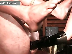 Unlucky guy gets tied in ropes and ass part6